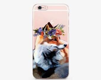 Cute Fox Phone 7 Plus Case Phone 6 Phone iPhone 6s Plus Phone Case 6 Plus Phone 5 Case Phone 5s Case Phone SE Case S7 Galaxy Edge AC1056