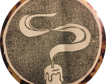 candle smoke back patch / snuffed out / dark circle patch