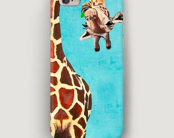 Giraffe iPhone 7 Case, Funny iPhone 6S Plus Case, Animals iPhone 5 Case, Phone 6 Cover, Mobile Phone Case, Cool iPhone Case, Apple Case