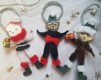 Take Your Pick - Chenille Ornaments Dogs and Snowman