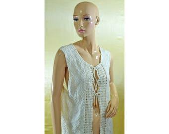 Vintage The Roberto Clothing Choice women vest 100% cotton