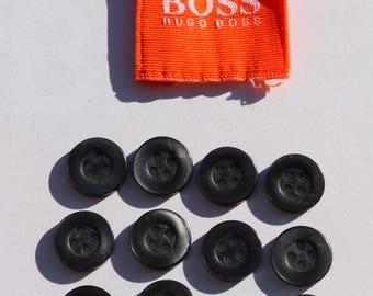 Set of 12 Vintage Hugo Boss buttons