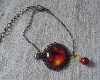 "bracelet ""red and yellow Blaze"""