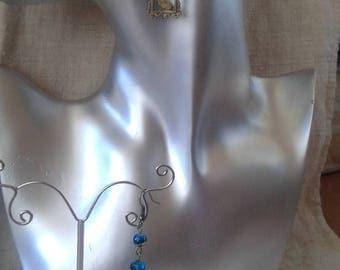 """bronze earrings """"rabbit in a frame"""""""