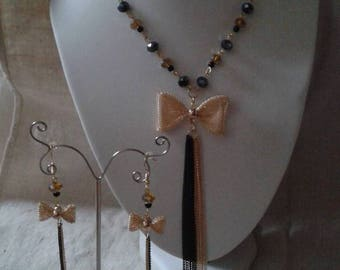 "set ""gold bow and pearls"""