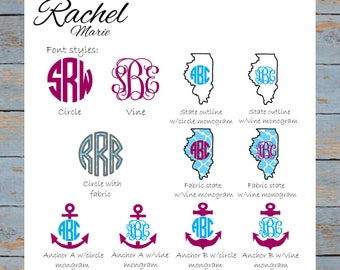 Embroidered Monogram Crewneck Sweatshirt - Custom, Personalized
