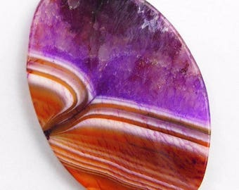 Onyx Agate Dragon Veins Stone Slice Pendant Purple Orange Geode Pendant Bead Stripes Agate Freeform Slice Pendant Bead
