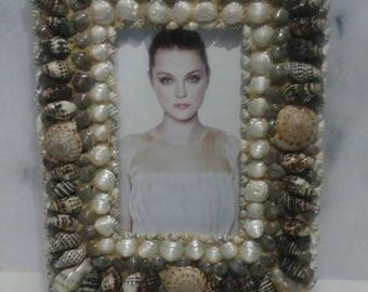 Beautiful 7x9 seashell picture frame