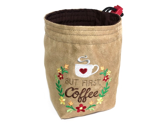 Dice Bag - But First, Coffee