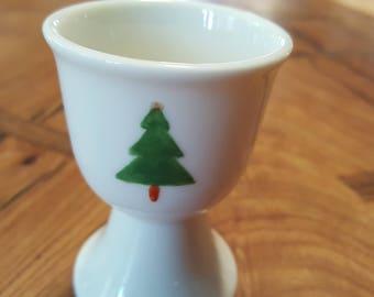 Christmas tree egg cup