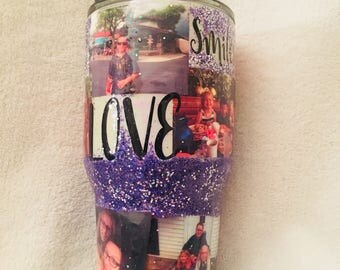 Photo tumbler, custom stainless steel tumbler pictures.