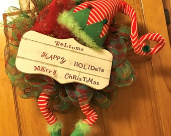Elf Welcome Wreath