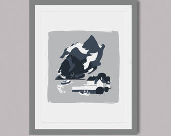 Norwegian Fjords - Hand pulled limited edition screen print of 5