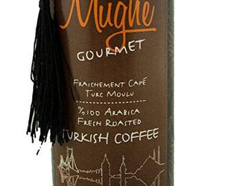 150gr Luxury Ground Turkish Coffee 100%Arabica, Roasted  in Woodfire  in a Fancy tin gift box