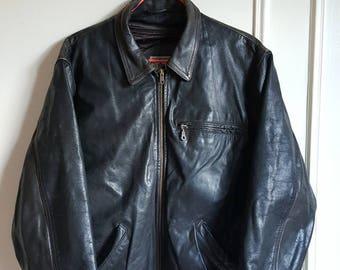 Jacket / genuine leather jacket Arturo Paris Vintage years 80-90 Made in France size S.