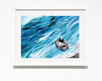 Set sail | watercolor art print