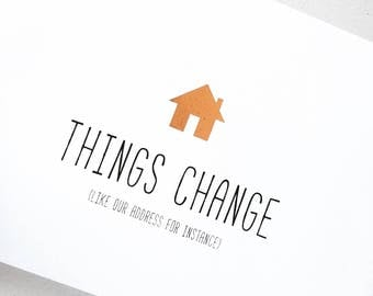 change of address cards / new home cards /new home announcement cards