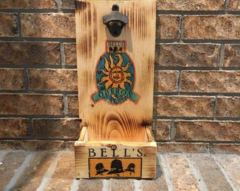 Rustic Bells Oberon Bottle Opener sit on table or mount on wall