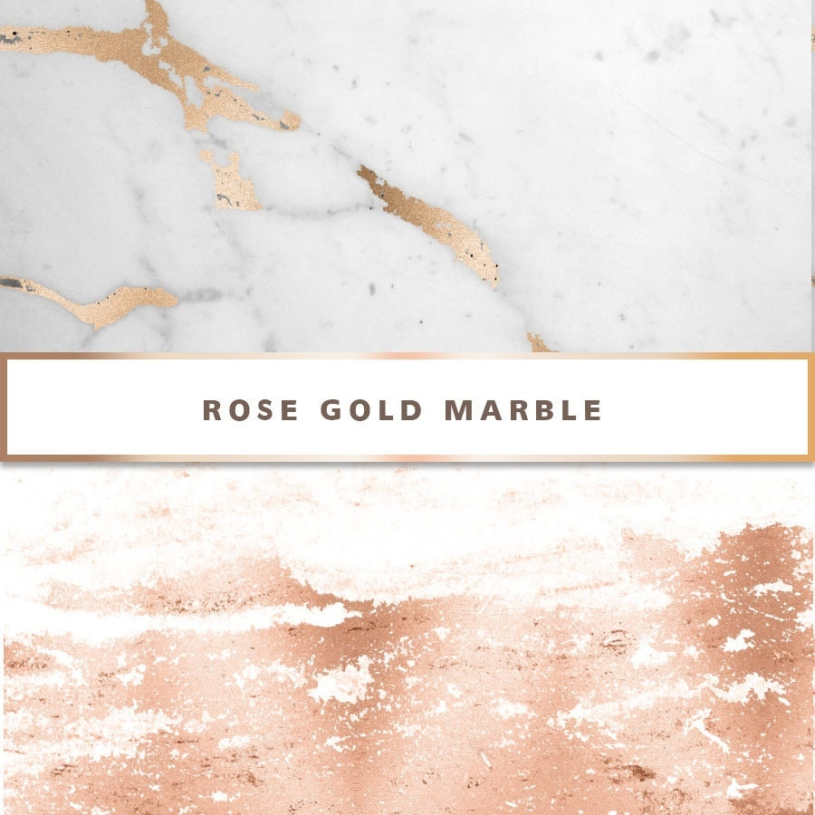Rose Gold Marble Digital Paper Rose Gold Digital Paper