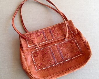 RESERVED FOR THERESA Vintage tooled leather bag