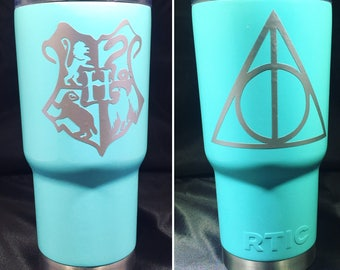 Harry Potter Hogwarts Vinyl decal sticker for Yeti Rtic tumbler cup car bumper sticker