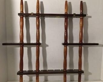 Vintage Handcrafted Wood Spoon Souvenir Spoon Rack.