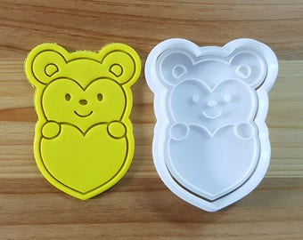 Hamster Holding Heart Cookie Cutter and Stamp