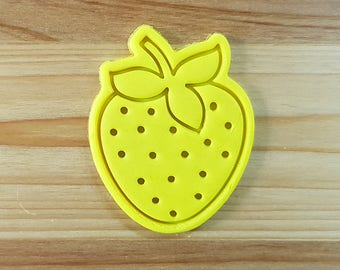 Strawberry Cookie Cutter and Stamp