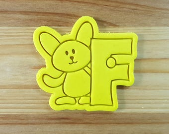 Bunny F Cookie Cutter and Stamp