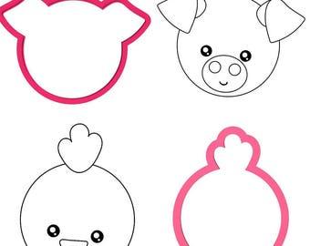 farm animal faces