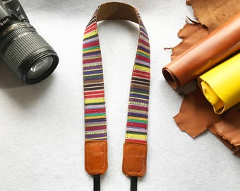 NuovoDesign padded Bohemian style camera strap for DSLR and mirrorless