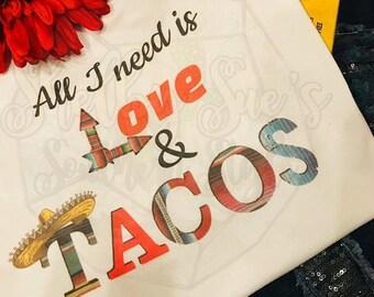 Love & Taco T Shirt