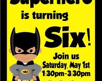Batman Birthday Digital Invitation/Printable Invitation/Batman Party/Batman Birthday/Lego Batman Theme/Lego Batman Party/Batman Invites/