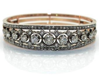 Old Bangle, Napoleon III, old cut diamonds