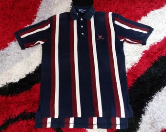 Vintage Polo by Ralph Lauren Golf Horizontal Stripe Small Embroidery