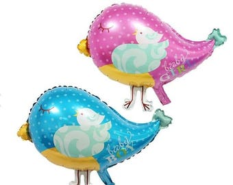 Adorable Baby Shower Bird Balloons | Baby Shower Balloons | Its A Girl | It's A Boy | Unique Balloons