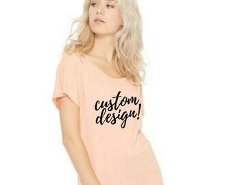 Custom Women's Flowy Tee
