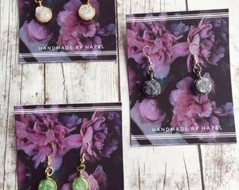 Druzy crystal earrings