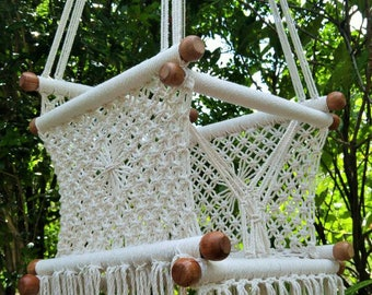 Baby hammock swing chair macrame