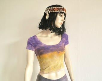 CropTop hippie shirt, Woodstock, Festival, party, flower power