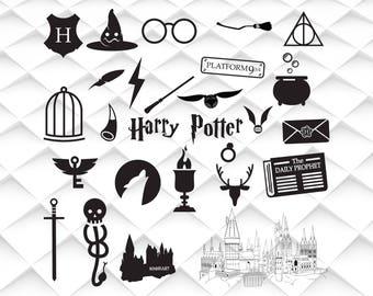 Harry Potter svg,jpg,eps,psd,ai for Design/Print/ Silhouette Cameo/Cricut& Many More