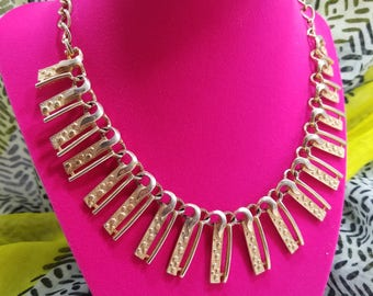 Splendid Gold Tone Statement Necklace by Emmons