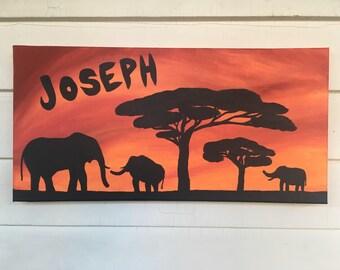 Custom Safari Nursery Painting