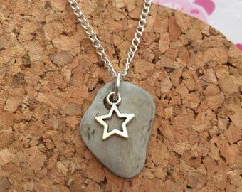 Slate Necklace, Star Necklace, Cornish Treasure Necklace