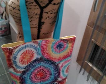 Or another fabric multicolored nine handmade and unique shopping bag