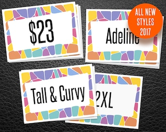 Price card / Name card / Size cards, New Style 2017 + Dsny Collection, 110 cards 5x7, Lula Tags, LLR Retailer, Instant Download, LLR Cards 1