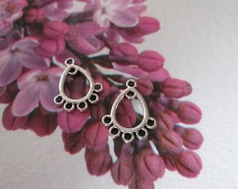 10 chandelier Silver earrings, 16 x 12 mm