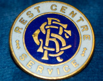 Vintage Enamelled Rest Center Service BadgeHome Front Air Raid Shelter