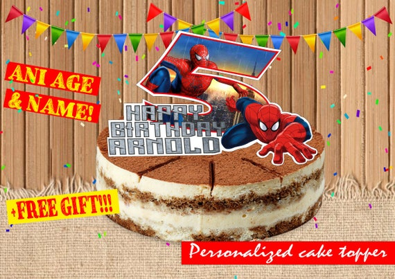 DIGITAL Spider man Cake Topper Spider man Birthday Party Spider