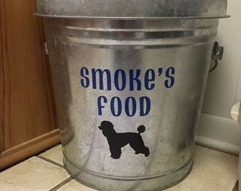 custom pet food container decal decal only - Dog Food Containers
